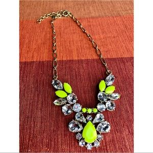 Authentic J. Crew Statement Necklace Neon Yellow